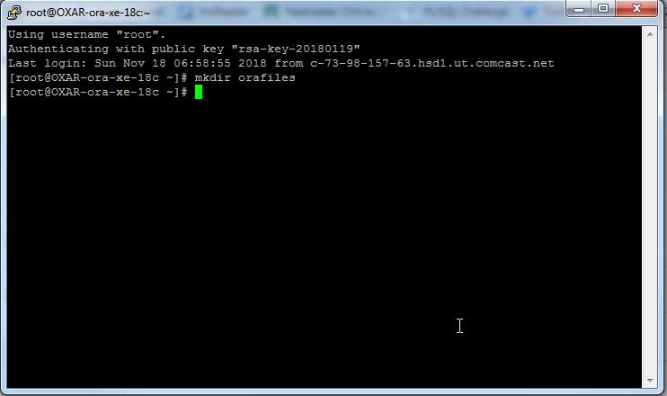 Oracle XE 18c APEX Server (Part 2)